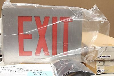 Pathway LD Series Emergency Exit Sign LED, Die-cast Aluminum