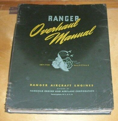 RANGER SGV-770C Navy V-770-6,8  AIRCRAFT ENGINE OVERHAUL MANUAL c1942 FAIRCHILD