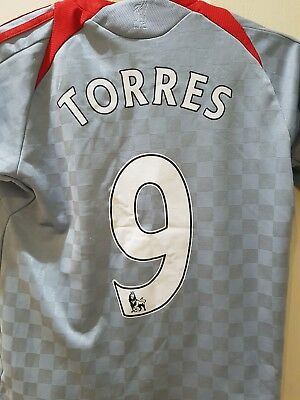 CHILDS LIVERPOOL FC Adidas Away Shirt 2008/09 #9 TORRES 30/32