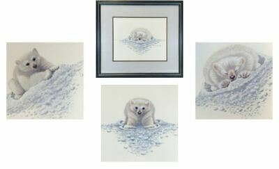 Gorgeous - Set of 3 Polar Bear Prints, Glazed & Framed Signed by Warwick Higgs