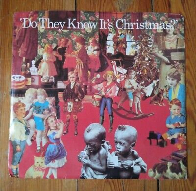 """BAND AID - Do They Know It's Christmas? / Feed The  - 7"""" 45RPM Vinyl Record - EX"""