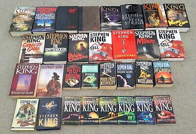 31 book lot STEPHEN KING hc/pb IT MISERY STAND CELL dark tower/green mile series