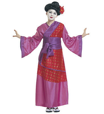 Childs China Girl Fancy Dress Costume Chinese Geisha Outfit Kids Age 8 9 10