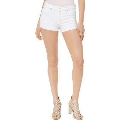 GUESS Womens Gilded Cut-Off Sequined Denim Shorts