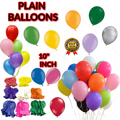 """10"""" inch LARGE latex balloons WHOLESALE party birthday event wedding decorations"""
