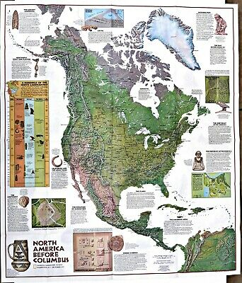 ⫸ 1972-12 Indians of North America – National Geographic Map Poster