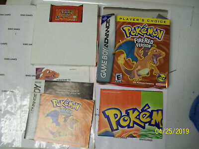 Nintendo Pokemon FireRed Version Fire Red COMPLETE IN BOX NO WIRELESS ADAPTER