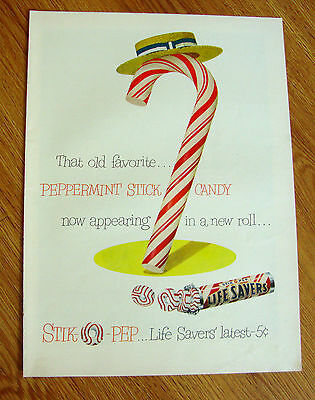 1950 Life Savers Candy Ad  That Old Favorite Peppermint Stick Candy in a Roll