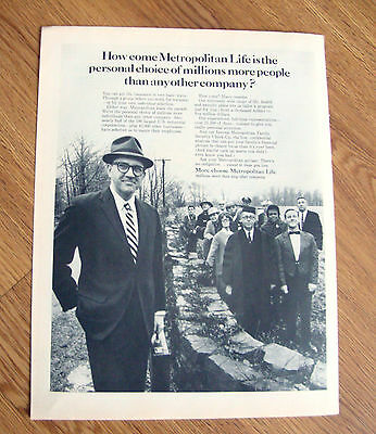 1965 Metropolitan Life Insurance Ad Needs As Individual As Your Fingerprints Historical Memorabilia Other Banking & Insurance