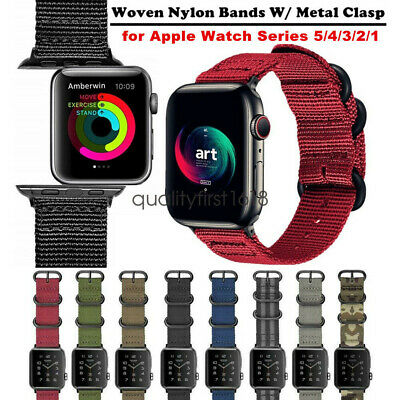 for Apple Watch Band Series 4 3 2 44mm 42mm  40mm 38mm Woven Nylon Sport Strap