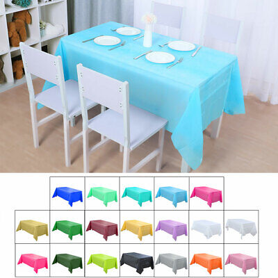 """PE Disposable Tablecloth Rectangle Oil Stain Resistant Table Cover 54"""" x 108"""""""
