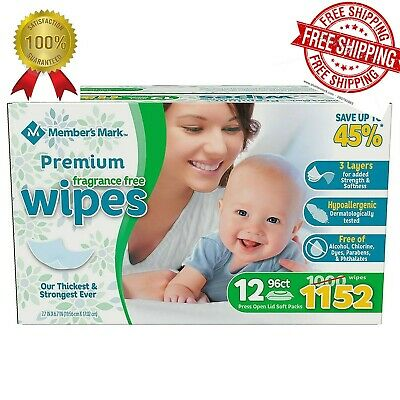 Member's Mark Premium Fragrance Free Baby Wipes (1152 ct.)FREE SHIPPING FAST