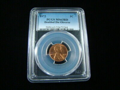 "1972 Lincoln Cent PCGS Graded MS63RD ""Doubled Die Obverse Error"" Very Nice!!"