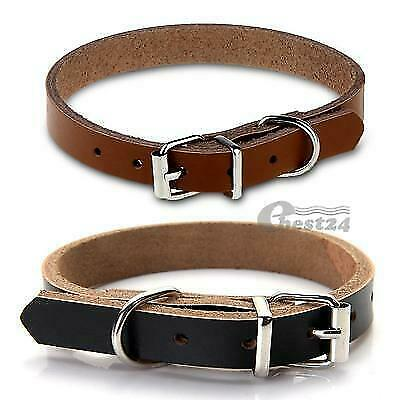 Cow Leather Dog Pet Cat Puppy Collar Neck Buckle Adjustable Gift Beautiful