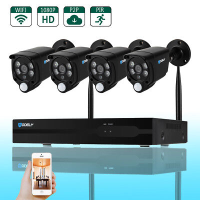 Wireless 8CH 1080P NVR CCTV Smart PIR WIFI Camera Home Security System Auto Pair