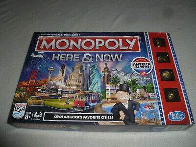 Boxed Monopoly Board Game Here And Now Usa Edition Parker Brothers Hasbro
