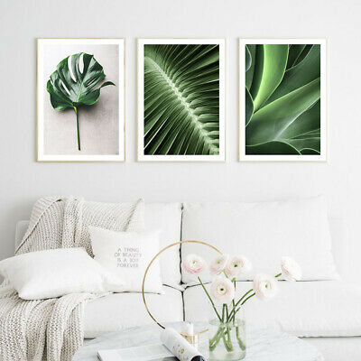 Plant Leaf Canvas Botanical Poster Nordic Wall Art Print Scandinavian Decor