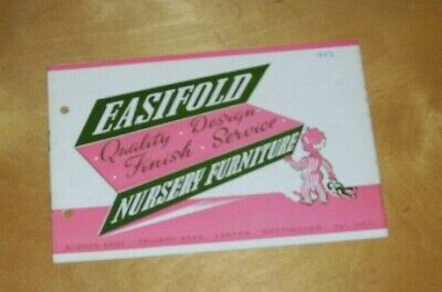 Easifold Nursery Furniture  Catalogue 1952 Blower Brothers