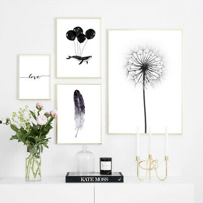 Dandelion Feather Nordic Canvas Poster Simple Scandinavian Style Wall Art Print