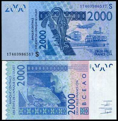 West African States Guinea Bissau 2000 Francs 2003 / 2017 P New Unc