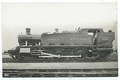 GREAT WESTERN RAILWAY - GWR Steam Loco no. 6110 Moore Real Photo Postcard