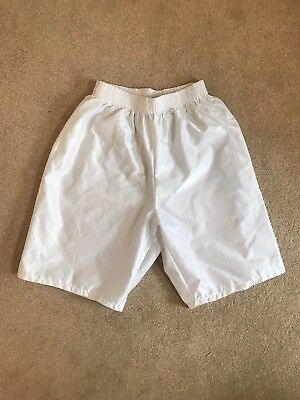 White Nylon SoccerFootball Gym Shorts XL 38/40W