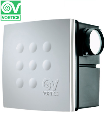 Vortice Quadro Micro 100 Recessed Centrifugal 2 Speed Flush Duct Extractor Fan