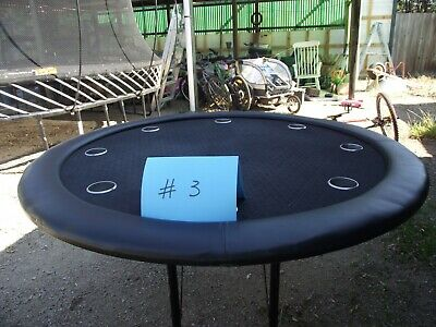 Folding poker table with cup holders #3