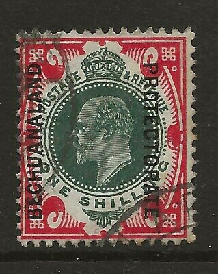 Bechuanaland  Sg 71  1913 Ed Vii 1/- Green & Carmine   Good/Fine Used