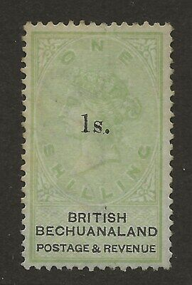 Bechuanaland  Sg 28  1888  1/- On 1/-   Fine Lightly Mounted Mint