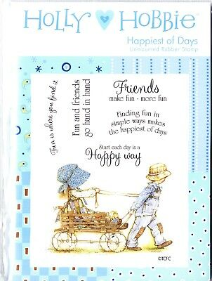 TIME FOR TEA Unmounted A6 Rubber Stamp Sheet HOLLY HOBBIE