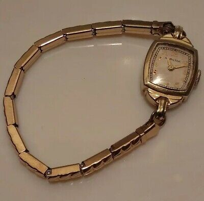 Antique Hamilton Ladies Women's Watch 17 Jewels 780 14K Gold Filled