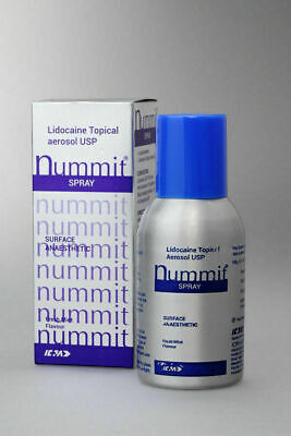 Lidocaine Topical Nummit Anesthetic Aerosol USP 15% Spray -100gm T8&6//..