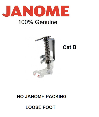 NO PACKING - JANOME Open Toe Free Motion Quilting Darning Embroidery Foot Cat B