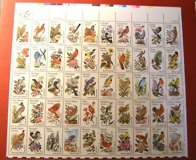 1953-2002 State Birds & Flowers Issue (50) 20 Cent Stamps W/Usps Original Jacket