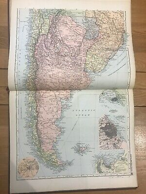 1897, Map of SOUTH AMERICA (South), Bacon's Popular Atlas Of The World