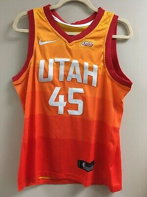 4eed01a3f NWT Donovan Mitchell  45 City Edition Orange Utah Jazz Stitched Jersey-  MEDIUM