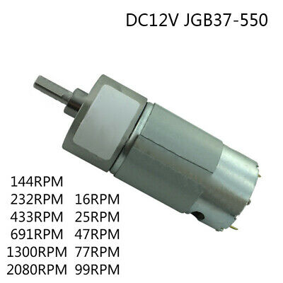 High Torque Motor Worm Gear With Metal Gearbox 1 Pcs DC JGB37-550 DC12V Durable