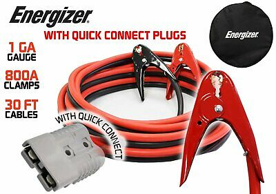 ENB130-Energizer 1AWG 30ft HEAVY DUTY Jumper Cable Install kit w/ Quick Connect