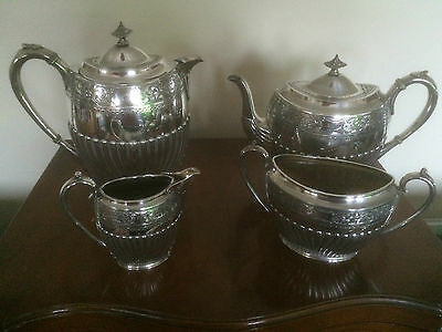 Stunning Victorian  4 Piece Silver Plated Tea/Coffee Service  (Sptcs 3901  )