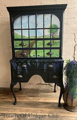 Antique Handpainted Tallboy /cupboard /cabinet /drawers