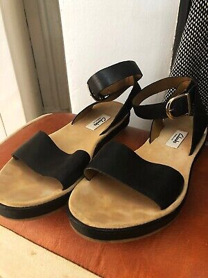 895094049e7d Ladies Black Real Leather Clarks Strappy Sandal