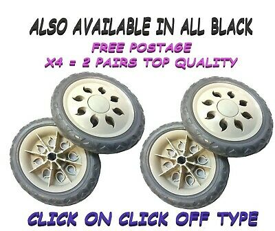 4 x Replacement / Spare Shopping Trolley Wheels (TWO PAIRS ONLY) *FREE DELIVERY*