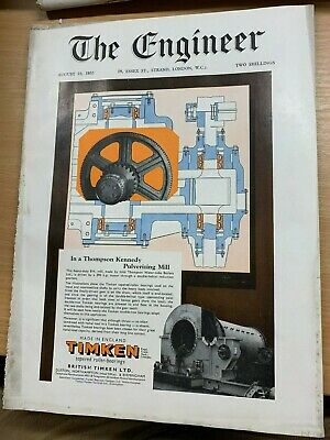 """Huge 19 August 1955 """"The Engineer"""" Magazine Heavy Machinery With Hydraulic Jack"""