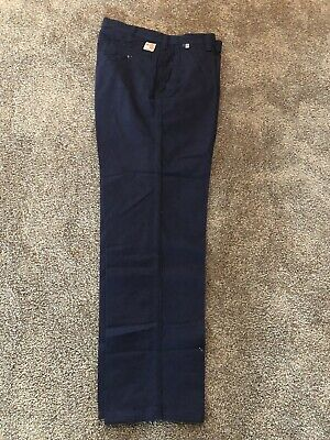 3 Carhartt FR Navy Blue Pants VG Condition 371-20 #427 Relaxed Fit 30x30