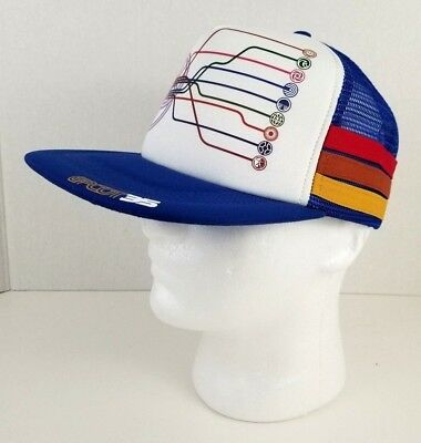 EPCOT snapback Hat 35th Anniversary Disney Parks side bar 3 stripes retro style