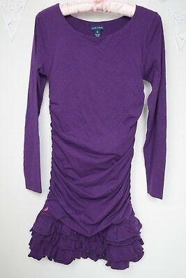 Ralph Lauren bodycone ruched ruffled purple dress size 16 XL girls k