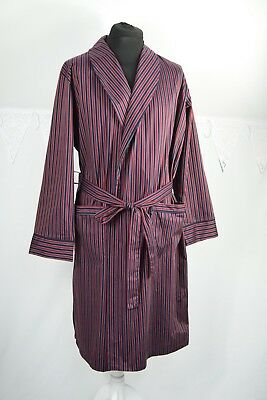m6 St Michael Marks &Spencer Vintage Cotton Gentleman's Striped Dressing Gown M