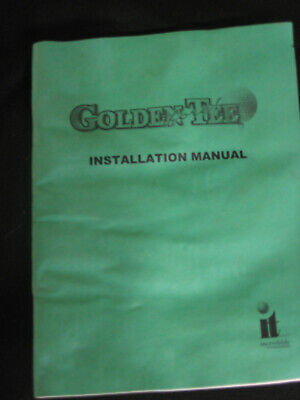 Incredible tech. GOLDEN TEE FORE! original owners manual  vintage arcade