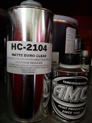 HC2104- QUART KIT 2:1 Matte/Flat Finish clear Mix 2:1 with 10%reduction